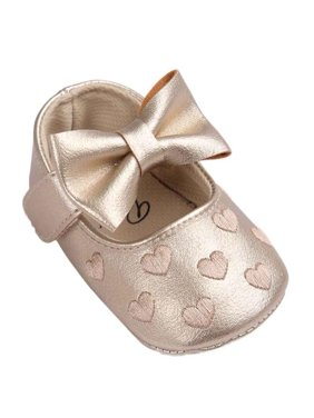 Baby Girl Bowknot Leater Shoes Anti-slip Soft Sole Toddler