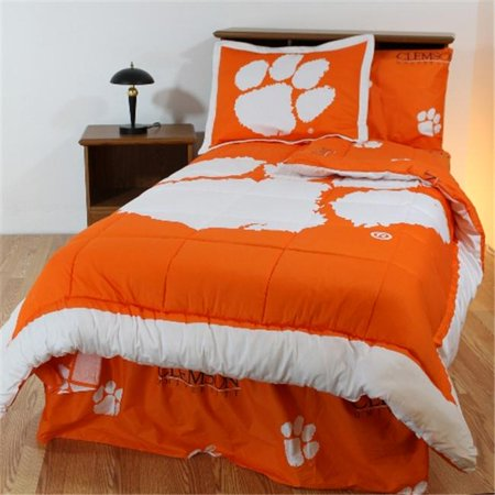 College Covers CLEBBQU Clemson Bed in a Bag Queen- With Team Colored Sheets