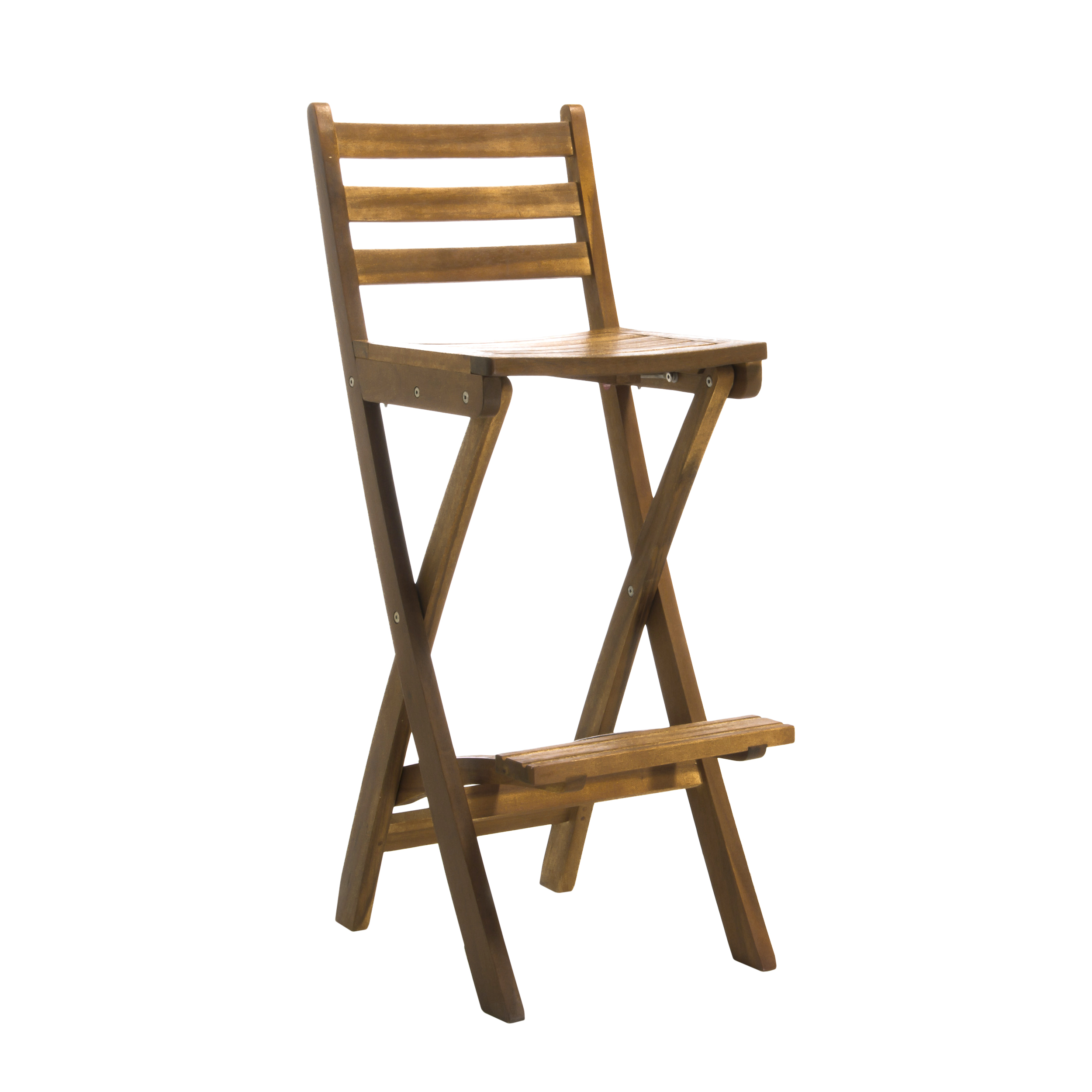 Ector Outdoor Wood Foldable Barstool