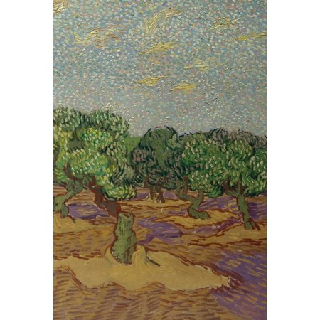 Poetose Notebooks: Vincent van Gogh's Olive Trees - A Poetose Notebook / Journal / Diary (50 pages/25 sheets) (Paperback)