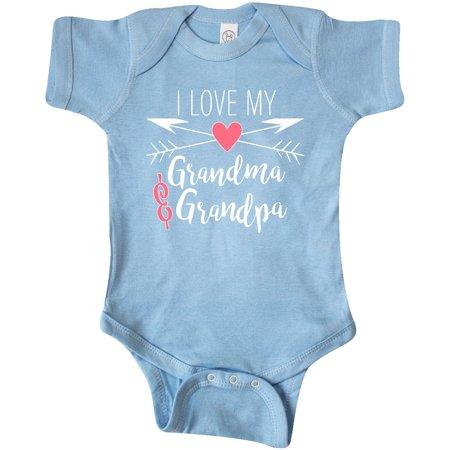 Inktastic I Love My Grandma And Grandpa Heart And Arrows Infant Creeper Family