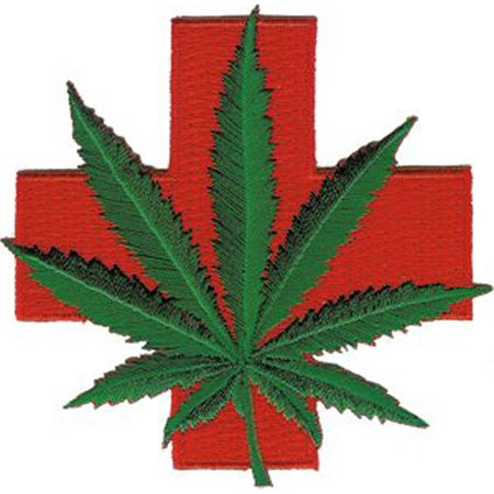 Iron Leaf (Novelty Iron on - Weed Medical Red Cross Marijuana Pot Leaf Patch..., By C&D Ship from US )