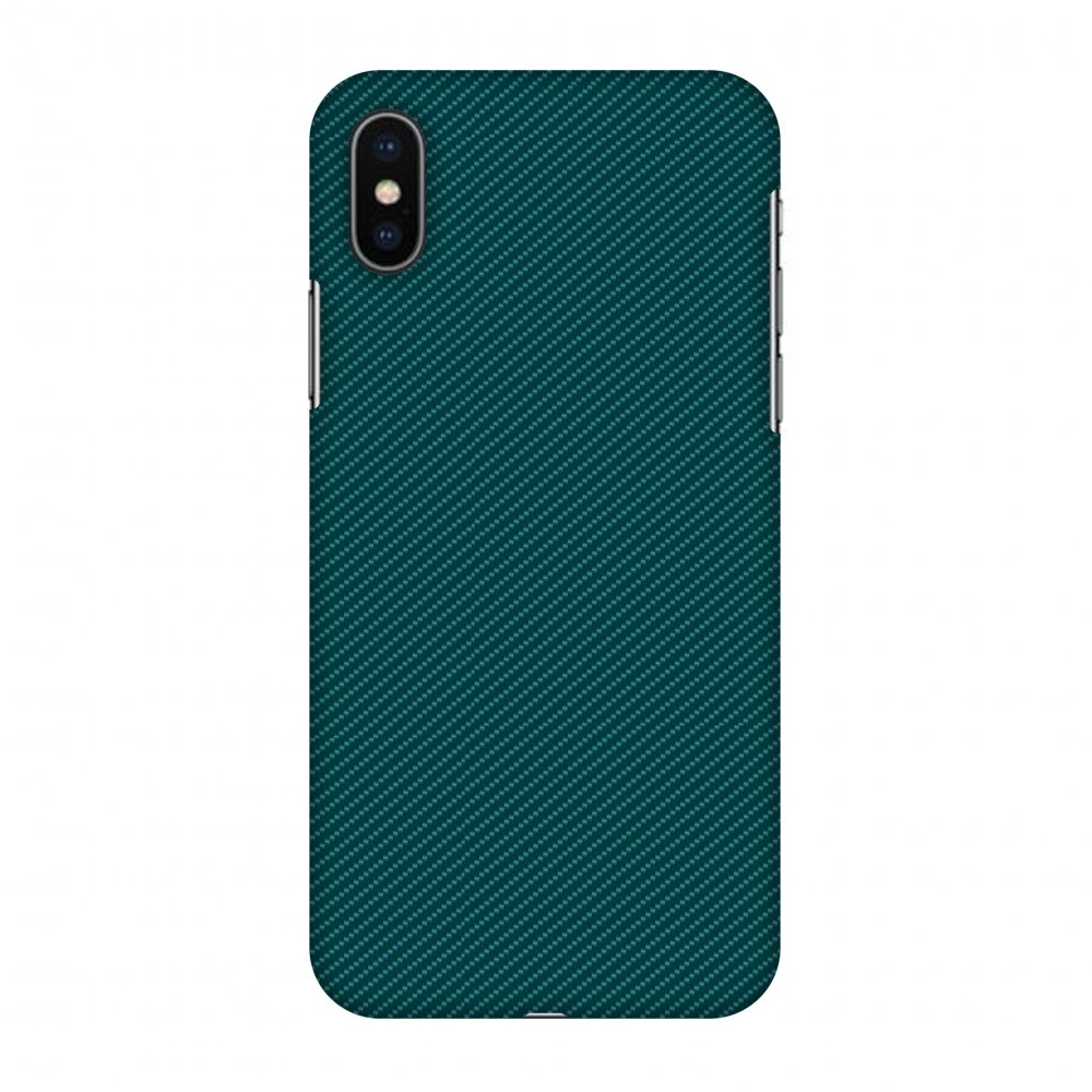 iPhone X Case, Premium Handcrafted Designer Hard Snap on Shell Case ShockProof Back Cover with Screen Cleaning Kit for iPhone X - Shaded Spruce Texture