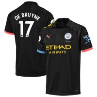 Kevin De Bruyne Manchester City Puma 2019/20 Away Replica Player Jersey - Black