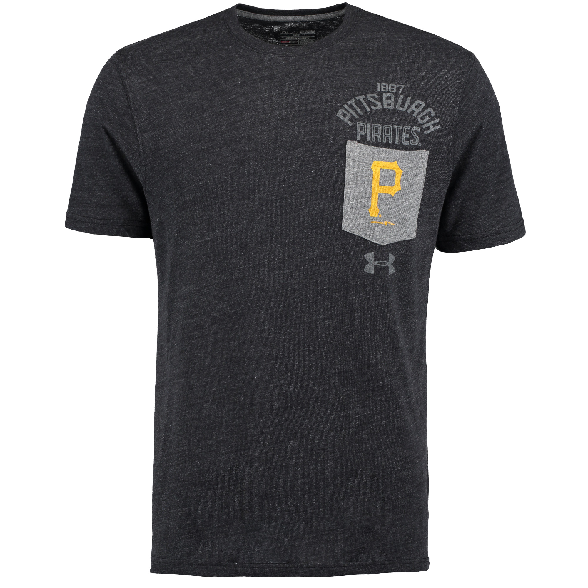 Pittsburgh Pirates Under Armour Tri-Blend Pocket Performance T-Shirt - Black