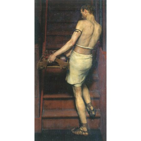 Framed Art for Your Wall Alma -Tadema, Sir Lawrence - A Roman -British pottery 10 x 13 Frame