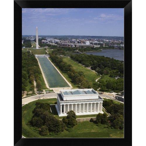 East Urban Home 'National Mall Lincoln Memorial and Washington Monument Washington D.C.' Framed Photographic Print
