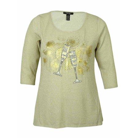 Style & Co . Spandex Tunic (style & co women's metallic graphic tunic)