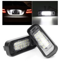GZYF 2PCS LED Number License Plate Light For 1999-2005 Mercedes Benz W220 S-Class