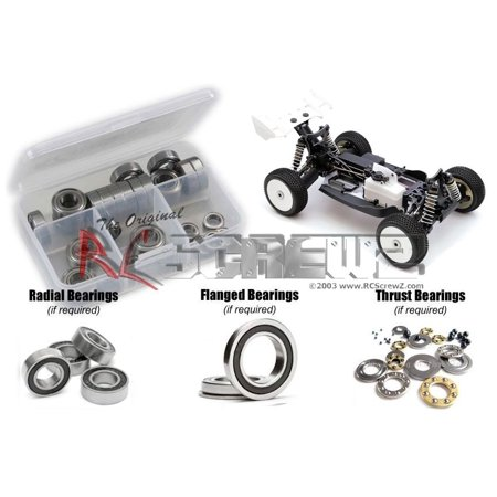 RC Screwz Rubber Shielded Bearing Kit for Intech B5 Nitro 1/8 Buggy #int001r