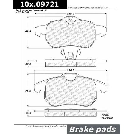 Go-Parts OE Replacement for 2003-2005 Saab 9-3 Front Disc