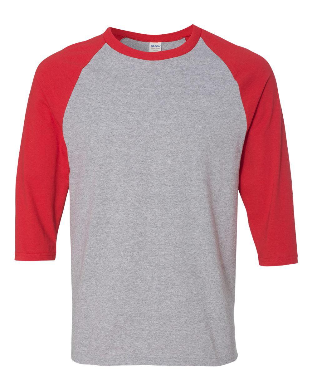 T-Shirts Heavy Cotton Three-Quarter Raglan Sleeve Baseball T-Shirt