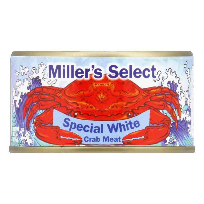 Miller's Select Premium Wild White Crab Meat, 6.5 OZ (Pac...
