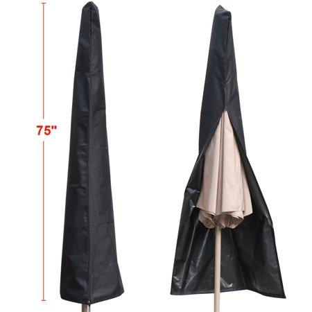 Yaheetech Waterproof UV-resistant 600D Patio Umbrella Zipper Cover fit 6ft to 11ft Umbrellas Canopy Patio Garden Outdoor