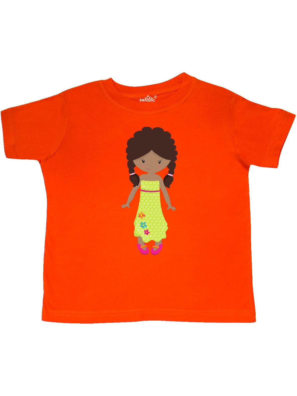 Ice Skating Girl Cute Girl Toddler T-Shirt inktastic African American Girl