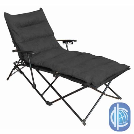 International Caravan Indoor Outdoor Folding Chaise Lounge Chair With Micros