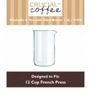 12 Cup Universal French Press Glass Beaker Fits Bodum & All Brands