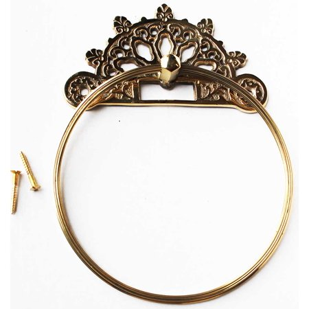NEW Victorian French Solid Brass Wall Mount Towel Ring Bathroom Fixture (Solid Brass Bath)