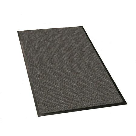 Guardian WaterGuard Indoor/Outdoor Wiper Scraper Floor Mat, Rubber/Nylon, 4'x6', Charcoal