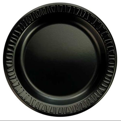 DART 9PBQR Laminated Plate, Round, 9 In, Black, PK 500