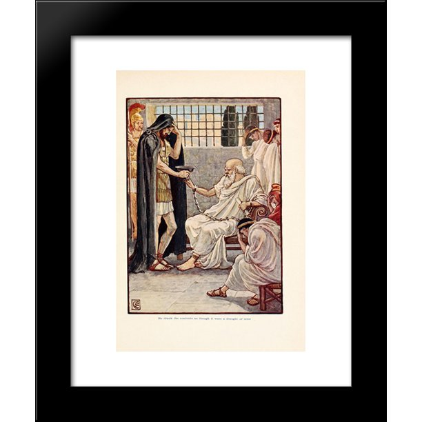 He Drank The Contents As Though It Were A Draught Of Wine 20x24 Framed Art Print By Walter Crane Walmart Com Walmart Com