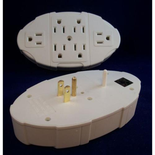 Westinghouse 6-Outlet Electric Transformer Tap Grounded Wall Adapter
