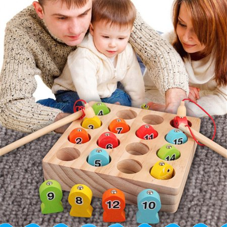 〖Follure〗Wooden Magnetic Fishing Game Fine Motor Skill Toy Letters Cognition Preschool Gift thumbnail
