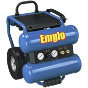 Factory-Reconditioned Emglo EM810-4MR 1.1 HP 4 Gallon Oil-Lube Twin Stack Air Compressor (Refurbished)