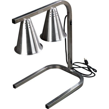 Carlisle HL723700 Aluminum Two Bulb Free Standing Adjustable Heat Lamp, 20 W x 14 D