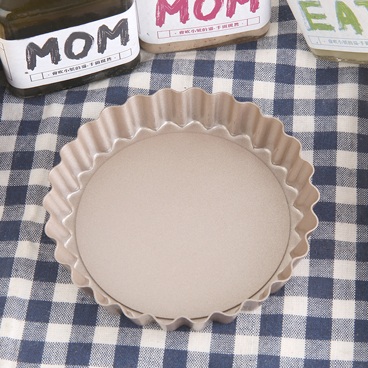 2PCS 4'' Pie Pan Mold Baking Removable Bottom Nonstick Round Shape by