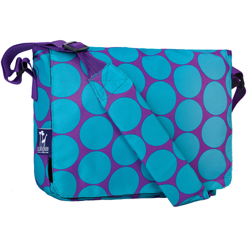 Wildkin Big Dot Aqua Kickstart Messenger Bag