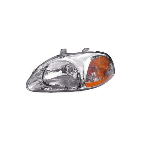 Dorman 1590642 Headlight For Honda Civic, Clear & Amber Lens