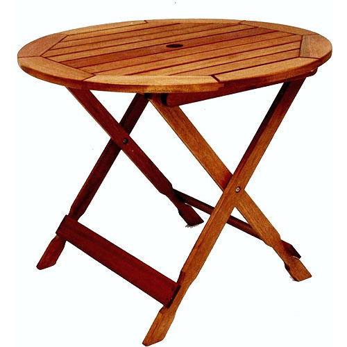 Milano FSC Eucalyptus Folding Bistro Table, Dark Brown