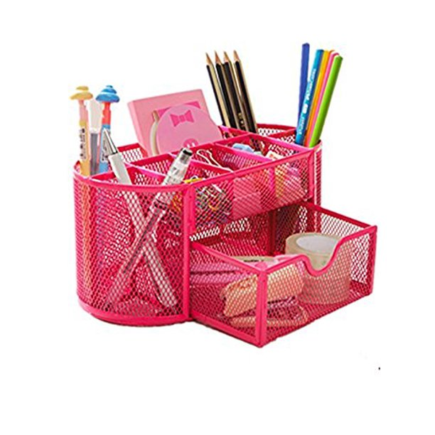 School Supply Desktop Organizer Caddy W, Pink School Desk Organizer