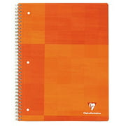 Clairefontaine Wirebound 3 Holes Notebook - Letter Size (8.5 x 11 inches), Lined, 180 pages