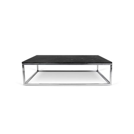 30 Inch Maple Top - Temahome 9500.624926 Ines Martinho Prairie Marble Coffee Table, 47 x 30 Inch - Black Marble Top - Chrome Legs