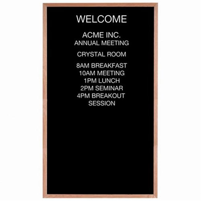 Aarco Products AOFD6036 Letter Board Message Board Red Oak Frame by Aarco Products Inc