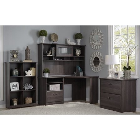 Bush Cabot 3 Piece Office Set in Heather Gray 3 Piece Office Set