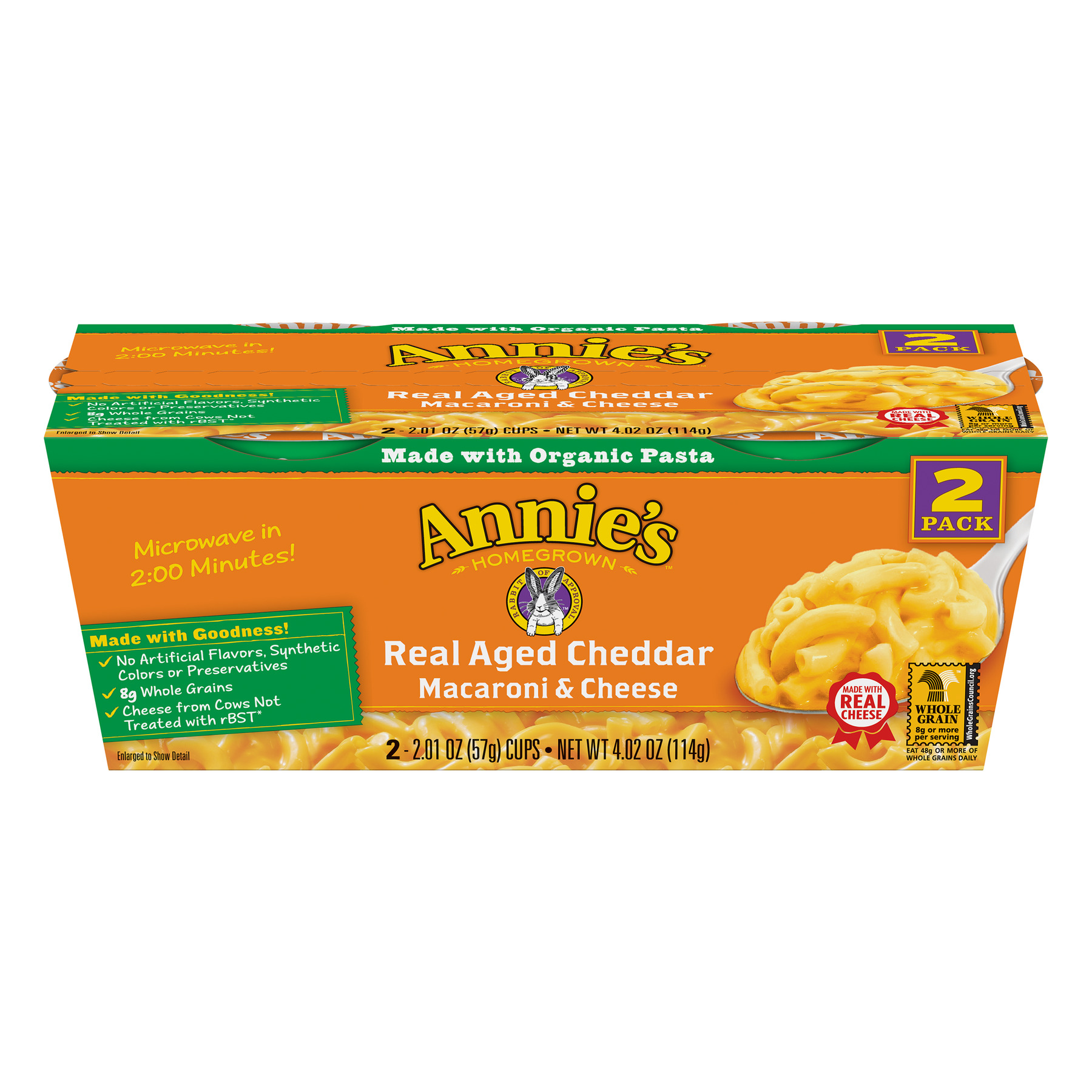 Annie's Real Aged Cheddar Macaroni and Cheese Micro Cup, 4.02 oz