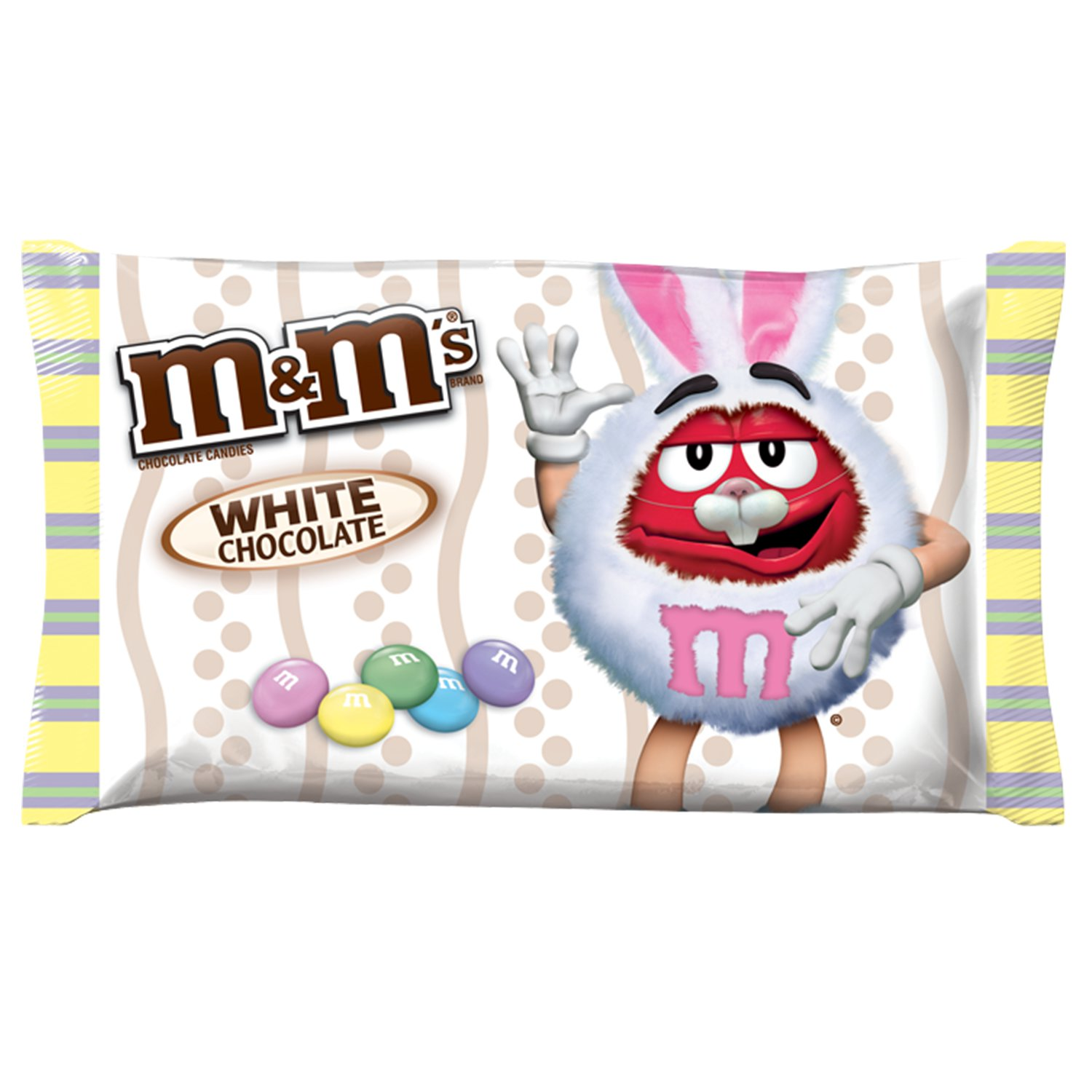 M&M'S Easter White Chocolate Candy Bag, 8 oz