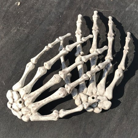 Denver Bars Halloween Parties (1 Pair Plastic Skeleton Hand Bone Halloween Party Decorations Props Haunted House Bar Decor Trick)