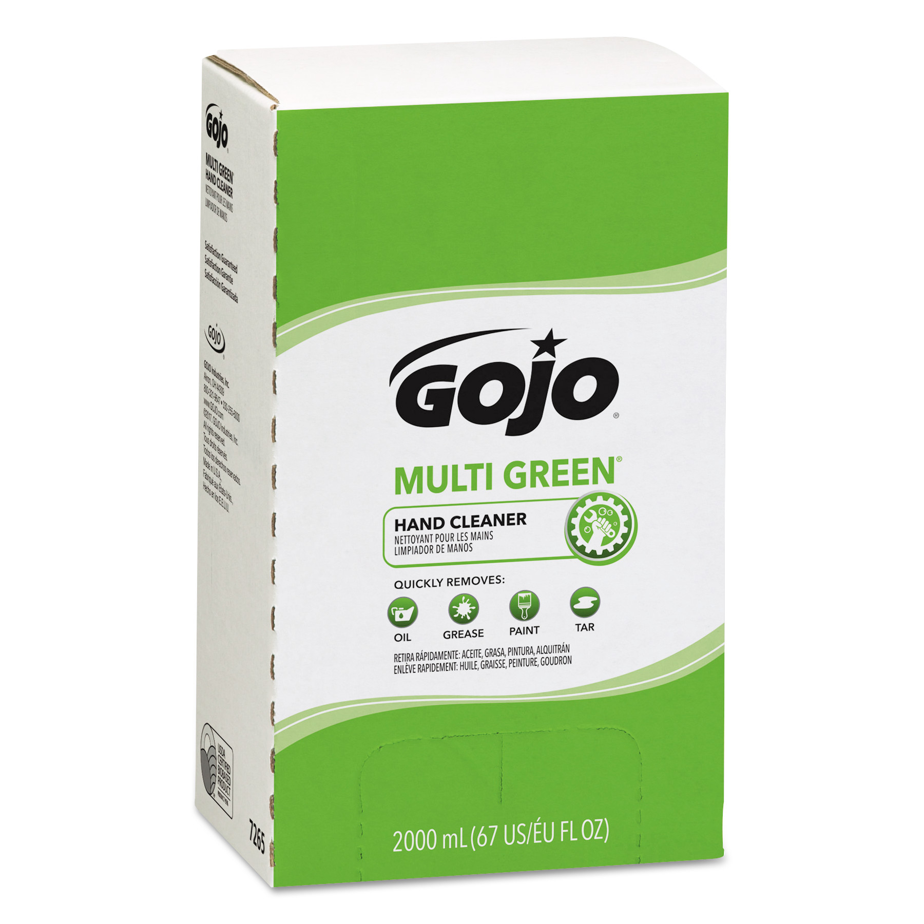 Gojo Multi Green Hand Cleaners, Citrus, Bag-in-Box, 2,000 mL