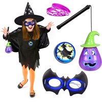 Pretend Play Witch Costumes for Girls, Toddler Costumes for Costume Party Black F-216
