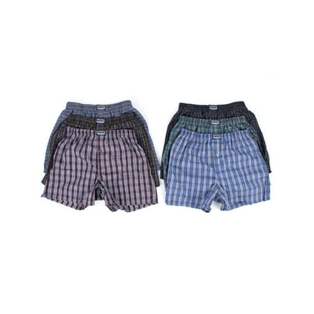Men's 6 Plaid Boxer Shorts Underwear (Best Boxer Shorts Uk)