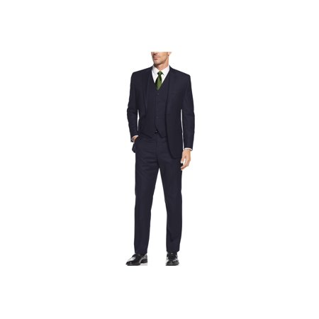 Men's Suit 3-Piece Two Button Blazer Jacket Flat Front Pants