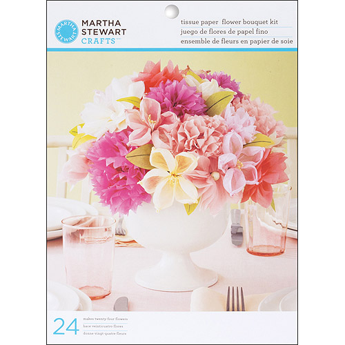 Martha Stewart Crafts Vintage Girl Tissue Paper Flowers Kit