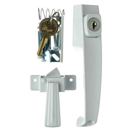 WRIGHT PRODUCTS VK333X3WH Keyed Push Button Latch, White G3888151