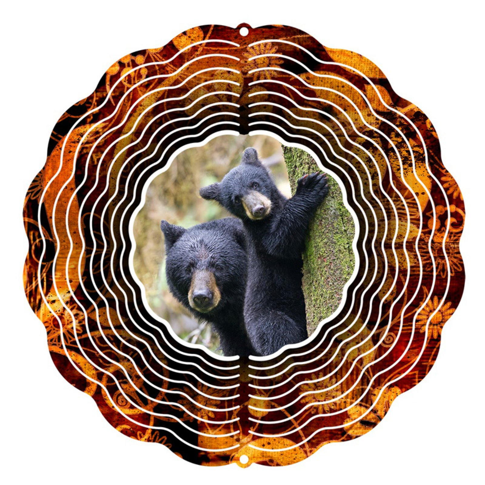 Next Innovations 10 in. Black Bear Wind Spinner by Next Innovations