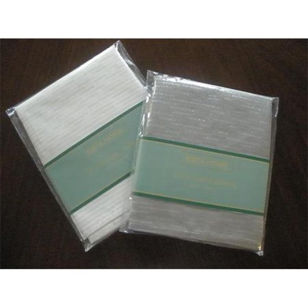 Tapestry Trading LJC1104-1717PK-S Goldthread Fabric Napkins Set, Silver for $<!---->