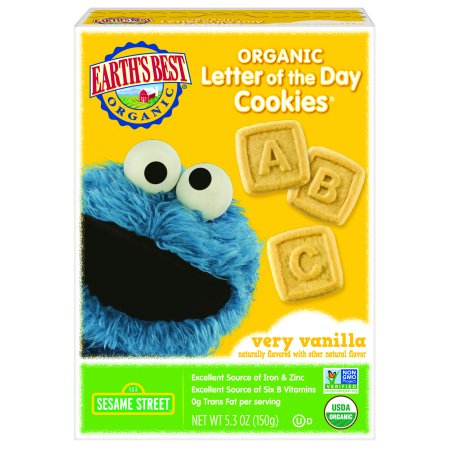 Best Halloween Cut Out Cookies (Earth's Best Organic Cookies, Toddler Snacks, Very Vanilla, Sesame Street Letter of the Day, 5.3)
